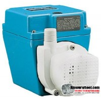 1/15 - 500 GPH - Dual Purpose Pump (black) - 6' Power cord sku - 503403 item - 503403- Sold In Quantity of 1