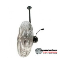 "Explosion Proof 30"" Ceiling Air Circulator 230/460 voltage"