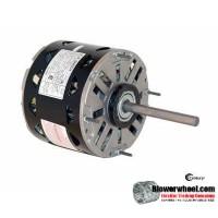 "Electric Motor - 5-5/8"" Diameter - AO Smith - DL1076 -3/4 hp 1075 rpm 115VAC volts"
