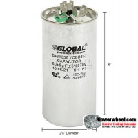 Capacitor - global - Round Dual Run Capacitor - 80+5mfd 370v  -sold as new