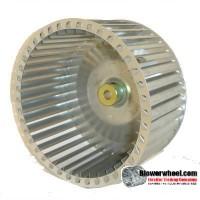 """Single Inlet Blower Wheel 8-1/2"""" D 3-3/16"""" W 1/2"""" Bore SKU: 08160306-016-GS-T-CCW-02"""