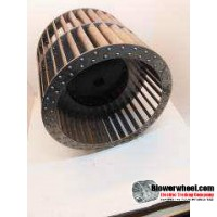 """Double Inlet Aluminum Blower Wheel 9"""" Diameter 10-1/4"""" Width 1"""" Bore Clockwise rotation with a Single Neck Hub"""