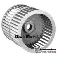 "Double Inlet Steel Blower Wheel 9"" Diameter 9-5/8"" Width 1"" Bore Counterclockwise rotation with a Single Neck Hub"