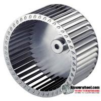 "Single Inlet Steel Blower Wheel 7-1/2"" Diameter 2-1/8"" Width 1/2"" Bore with Counterclockwise Rotation SKU: 07160204-016-S-T-CCW-001"