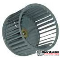 "Single Inlet Steel Blower Wheel 4"" Diameter 1-3/16"" Width 5/16"" Bore with Clockwise Rotation SKU: 04000106-010-S-AA-CW-001"