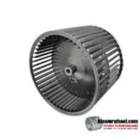 "Double Inlet Blower Wheel 9-1/2"" D 8"" W 1/2"" Bore SKU: 09160800-016-S-AA-CCWDW-CONVEX-02"