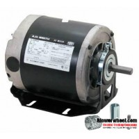 Electric Motor - Split Phase - AO Smith - GF2054 -1/2 hp 1725 rpm 115VAC volts