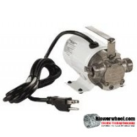 1/10 HP - up to 360 GPH - Non-Submersible - Self-Priming Transfer Pump - 6' Power cord sku - 555122 item - 555122- Sold In Quantity of 2