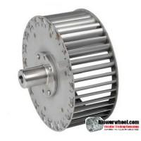 "Single Inlet Steel Blower Wheel 10-13/16"" Diameter 4-1/8"" Width 3/4"" Bore Counterclockwise rotation with an Outside Hub"
