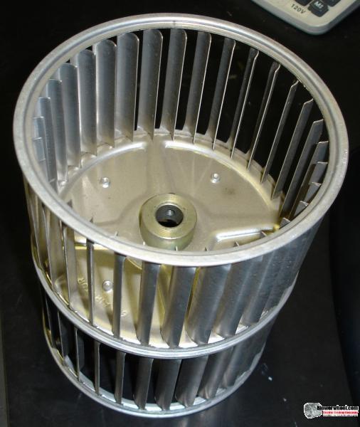 """Double Inlet Blower Wheel 7-1/2"""" D 5"""" W 3/4"""" Bore SKU: 07160500-024-AS-AA-CCWDW-02"""