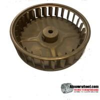 "Single Inlet Steel Blower Wheel 3-3/4"" Diameter 1"" Width 5/16"" Bore with Clockwise Rotation SKU: 03240100-010-S-AA-CW-001"