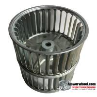 "Double Inlet Steel Blower Wheel 3-3/4"" Diameter 3-3/4"" Width 5/16"" Bore with Counterclockwise Rotation SKU: 03240324-010-S-AA-CCWDW-001"