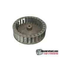 "Single Inlet Steel Blower Wheel 4-1/2"" Diameter 1-1/4"" Width 1/4"" Bore with Counterclockwise Rotation SKU: 04160108-008-S-T-CCW-001"