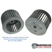 "Single Inlet Galvanized Steel Blower Wheel 9-3/4"" D 4-1/8"" W 3/4"" Bore-Counterclockwise  rotation- with inside hub SKU: 09240404-024-HD-GS-CCW"