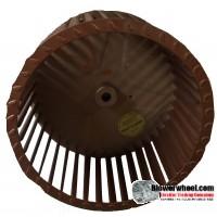 "Single Inlet Galvanized Steel Blower Wheel 8"" Diameter 4-5/8"" Width 1/2"" Bore with Clockwise Rotation SKU: 08000420-016-GS-T-CW-001"