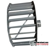 """Single Inlet Steel Blower Wheel 9-1/16"""" Diameter 4-7/16"""" Width 5/8"""" Bore with Clockwise Rotation with outside hub SKU: 09020414-020-S-T-CW-O-001"""