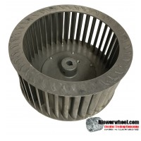 """Single Inlet Aluminum Blower Wheel 10-5/8"""" Diameter 5-1/4"""" Width 5/8"""" Bore with Clockwise Rotation SKU: 10200508-020-A-T-CW-001"""