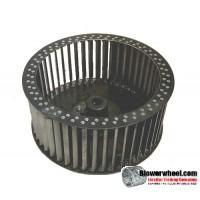 """Single Inlet Steel Blower Wheel 9-3/4"""" D 4-3/8""""  W 3/4"""" Bore-Counterclockwise  rotation- SKU: 09240412-024-HD-S-CCW"""