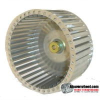 "Lau Single Inlet Aluminum with Steel Hub Blower Wheel 9-15/16"" diameter 6"" width 5/8"" bore  Counterclockwise Rotation"