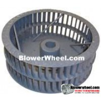 """Single Inlet Steel Blower Wheel 9"""" Diameter 5-1/8"""" Width 5/8"""" Bore Clockwise rotation with Outside Hub with Re-Rods and Re-Ring"""