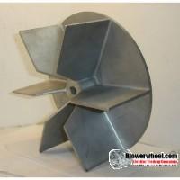 "Paddle Wheel Cast Aluminum Blower Wheel 9"" Diameter 2-7/8"" Width 1/2"" Bore with Clockwise-Counterclockwise Rotation SKU: pw09000228-016-casta-6flatblade-01 ASIS"