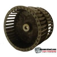 """Double Inlet Blower Wheel 9-1/2"""" D 6"""" W 3/4"""" Bore SKU: 09160600-024-GS-T-DW-02"""