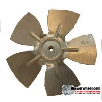 "Fan Blade 8"" Diameter - SKU:FB-0800-5-R-AS-CCW-010-C-001-Q3-Sold in Quantity of 3"