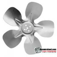 """Fan Blade 7-3/4"""" Diameter - SKU:FB0724-5-CW-20P-OUH-A-002-Q4-Sold in Quantity of 4"""