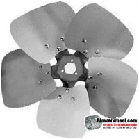 "Fan Blade 16"" Diameter - SKU:FB1600-5-CCW-29P-H-HD-002-Q1-Sold in Quantity of 1"