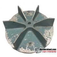 "Paddle Wheel Cast Aluminum Blower Wheel 10-1/2"" Diameter 3"" Width 5/8"" Bore with Clockwise-Counterclockwise Rotation SKU: pw10160300-020-casta-6flatblade-01 ASIS"