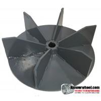 "Paddle Wheel Steel Blower Wheel 13-1/2"" D 5"" W 1-3/16"" Bore- with half inch thick steel- sku: PW13160500-106-HD-S-BladeFlat6-003"