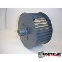 "Single Inlet Steel Blower Wheel 9"" Diameter 4-3/8"" Width 1/2"" Bore Clockwise rotation with an Outside Hub"